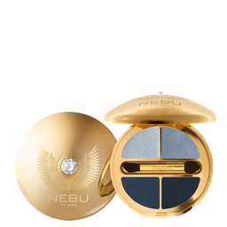 DIAMOND EYES QUAD EYESHADOW PALLETTE / GOLD Тени для век, 4 оттенка. Гамма: G402 PLATINUM BRILLIANCE