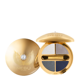DIAMOND EYES QUAD EYESHADOW PALLETTE / GOLD Тени для век, 4 оттенка. Гамма: G403 SMOKE OF PURITY