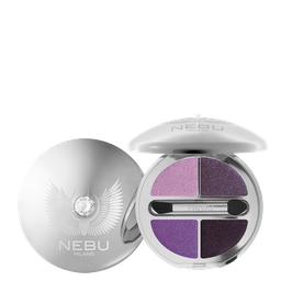 DIAMOND EYES QUAD EYESHADOW PALLETTE/PLATINUM Тени для век, 4 оттенка Гамма: P404 VIOLET LOVE & LIFE