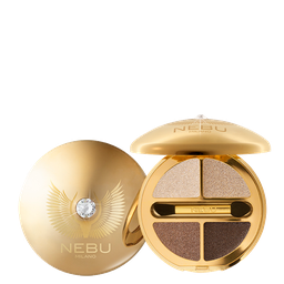 DIAMOND EYES QUAD EYESHADOW PALLETTE / GOLD Тени для век, 4 оттенка. Гамма: G401 NAKED INNOCENCE
